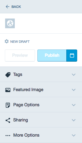 New page options