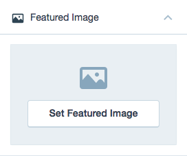 Featured image settings